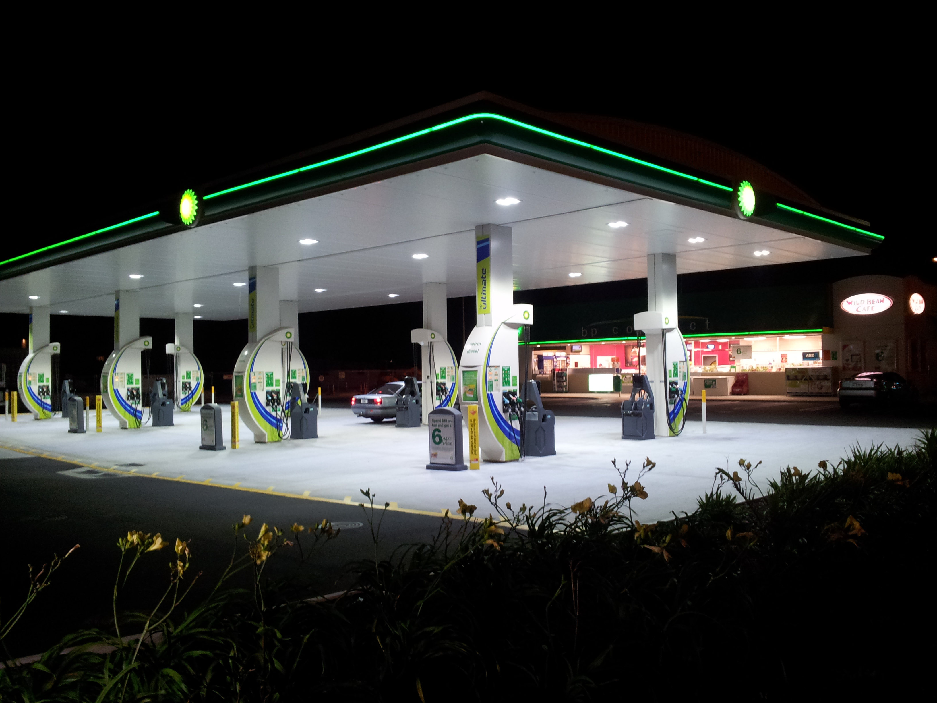 BP Petrol Station LED lighting