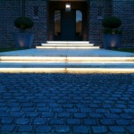 LED Step Lighting at night controlled by Automation System. Variable Lighting level.