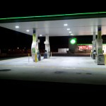 BP Petrol Station Courtyard LED Lighting